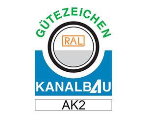 RAL Gütezeichen Kanalbau AK2